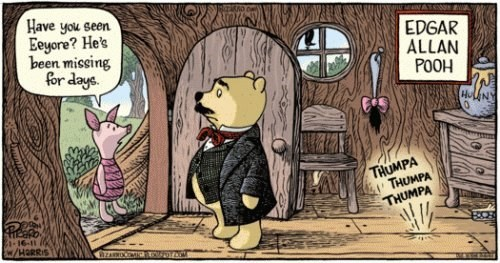 literature,edgar allen poe,english,funny,winnie the pooh,g rated,School of FAIL