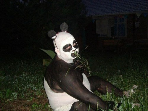 costume wtf creepy panda funny - 7601483776