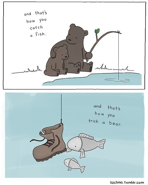 fishing,bears,funny,teaching kids