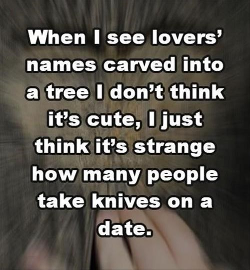 knives,idiots,dating,quotes,funny