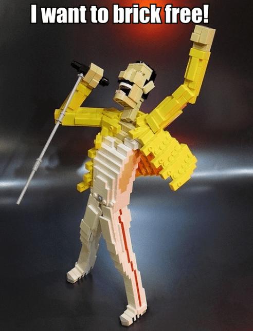 queen Music freddie mercury lego funny win - 7601656576