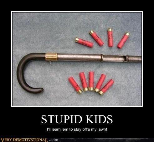kids shotgun cane old people funny - 7601752064