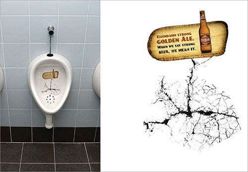 beer urinal ads funny
