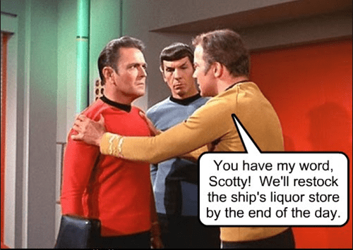 out of booze Star Trek funny