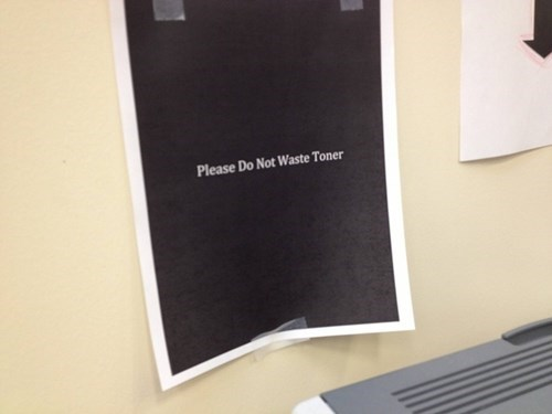 printers,trolling,ink,office pranks,toner