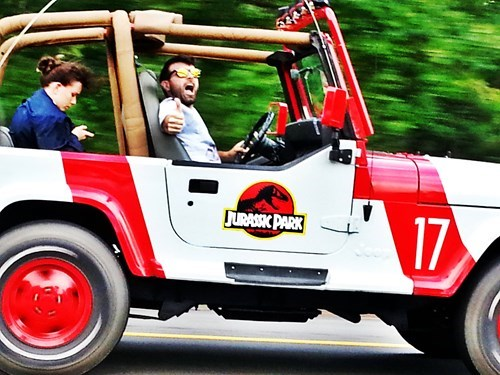 cars driving jurassic park funny g rated win - 7602037760