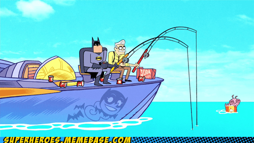 wtf fishing batman funny - 7602767616