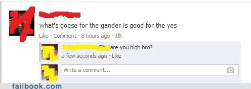 gander high high guy goose failbook - 7603196160