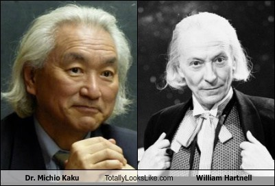 Michio Kaku totally looks like william hartnell funny