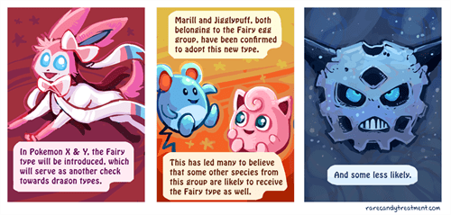 rare candy treatment Pokémon comics fairy types - 7603907072
