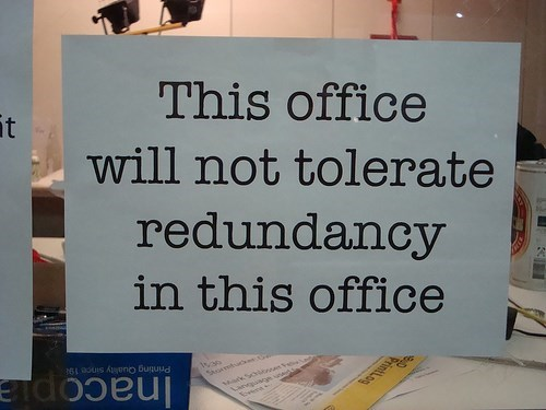 department of redundancy department redundancy funny signs - 7604174592