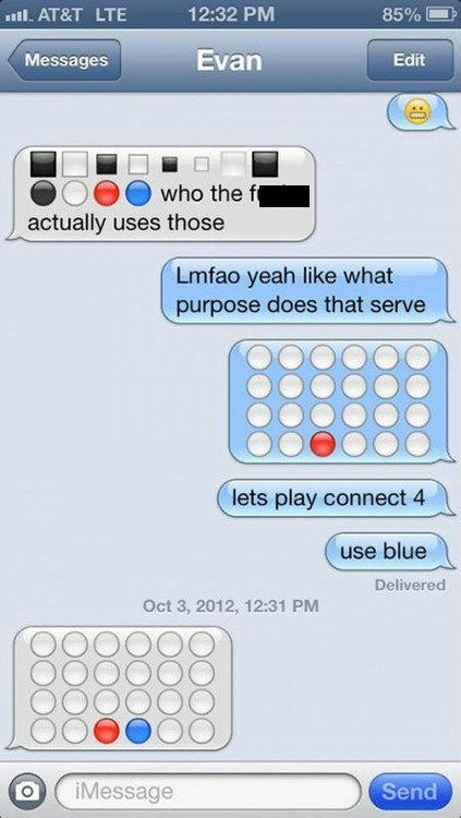 games connect four emoticons funny iPhones g rated AutocoWrecks - 7604176640