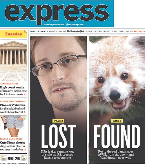 edward snowden news headline funny newspaper fail nation g rated