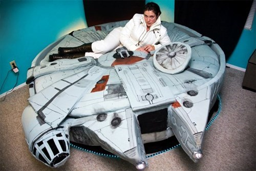 bed star wars design nerdgasm millennium falcon - 7604378880