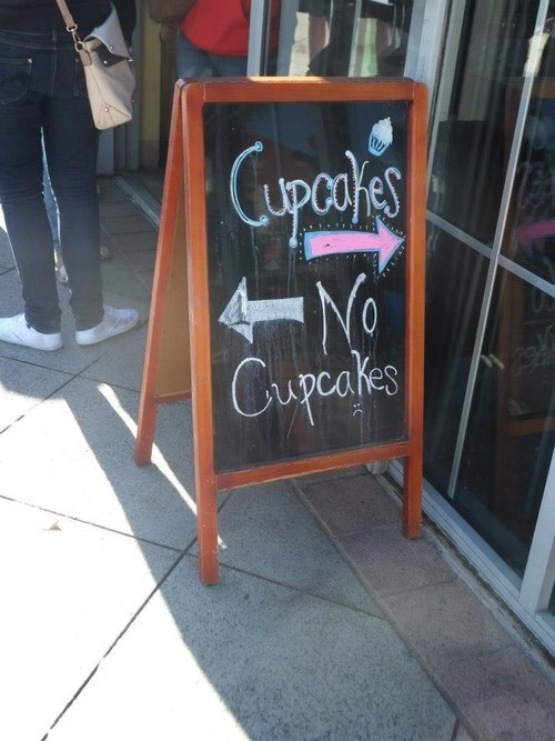 sign restaurant cupcakes funny - 7604381184