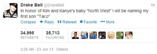 Babies,kimye,twitter,drake bell,kim kardashian,kanye west,north west