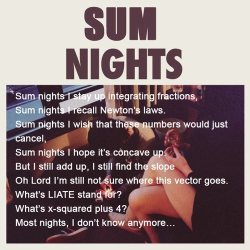 nights,lyrics,math,funny,school,g rated