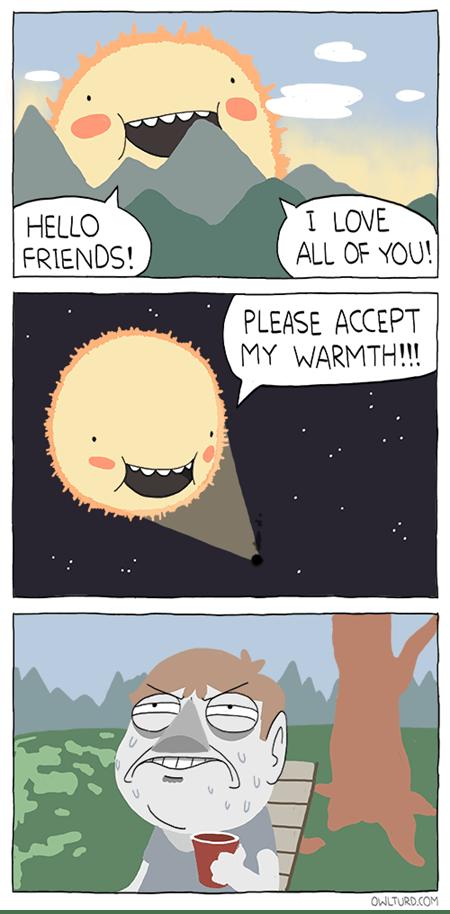 friends sun funny space - 7604680960