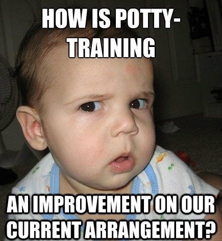 potty training skeptical funny - 7604739584