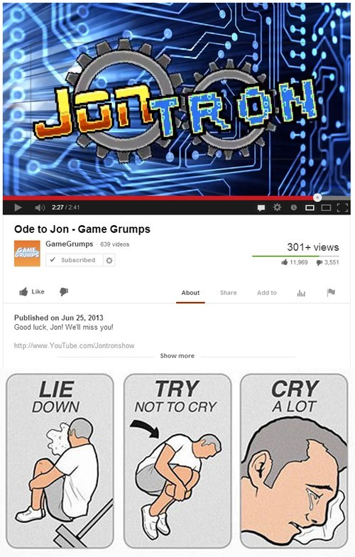 jontron youtube gamers game grumps rip - 7605057280