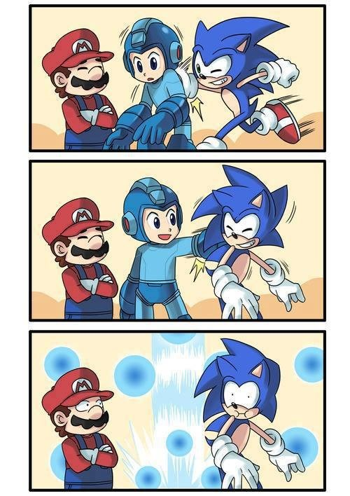 super smash bros mega man sonic - 7605212416