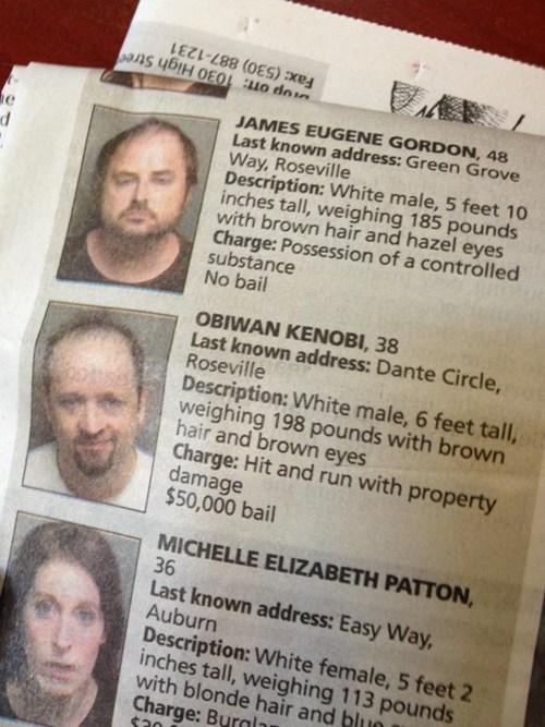 star wars criminally dumb criminals funny newspaper - 7605851392