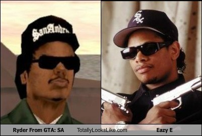 eazy e,totally looks like,Grand Theft Auto,funny