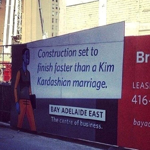 signs construction kim kardashian
