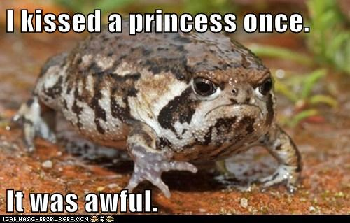 toad prince grumpy funny frog - 7607449344