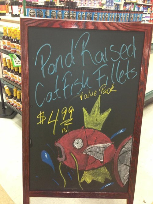 magikarp IRL grocery shopping - 7607453696