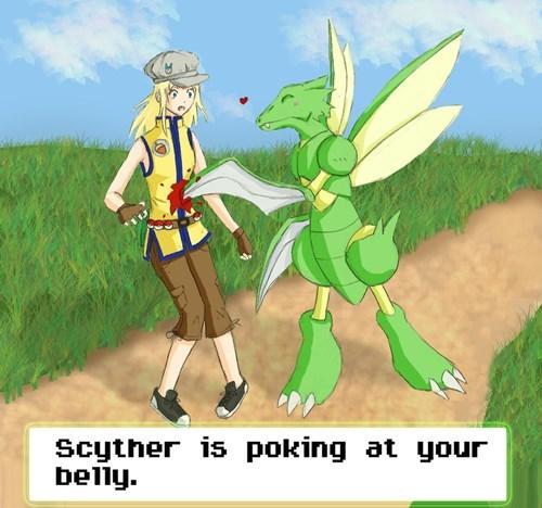 Pokémon art scyther - 7607455744