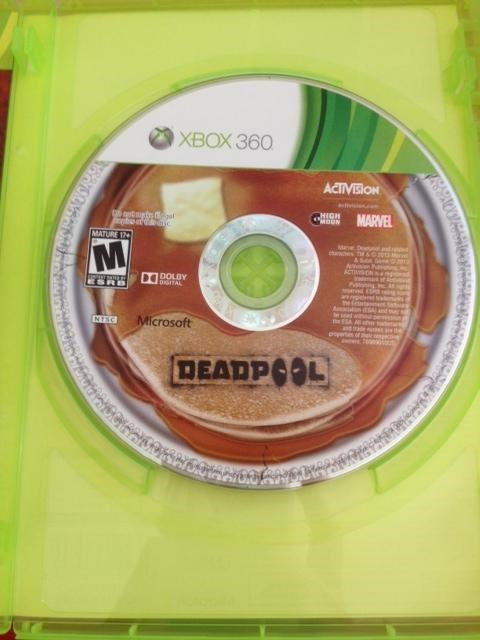 disc art,deadpool,pancakes