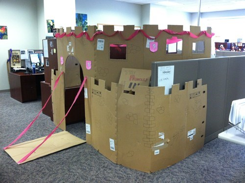 castle,cardboard,cubicle,monday thru friday,g rated