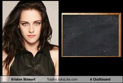kristen stewart,no emotions,totally looks like,chalkboard,funny