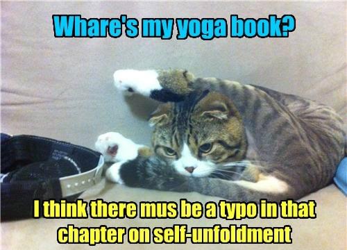 typo folding book funny yoga - 7607860224