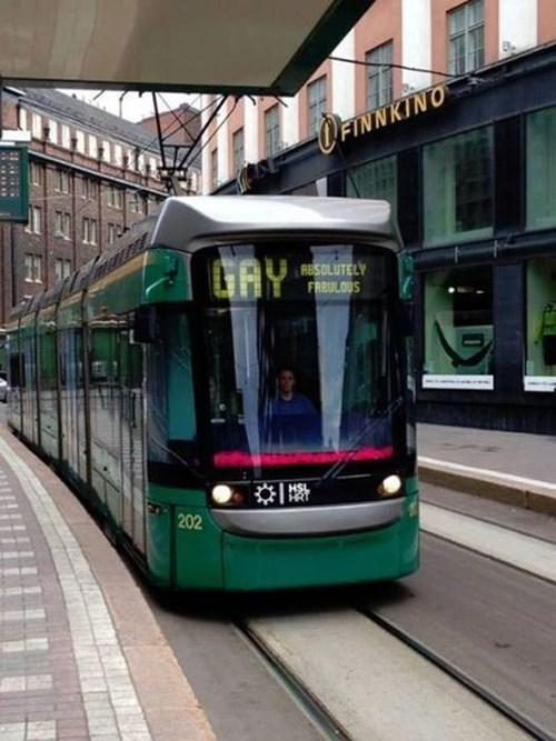 lgbtq trains public transit funny - 7607950592