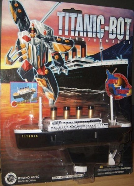 titanic transformers knockoff funny