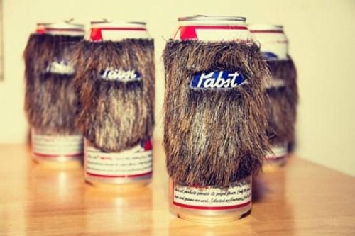 beer beard koozie pbr funy