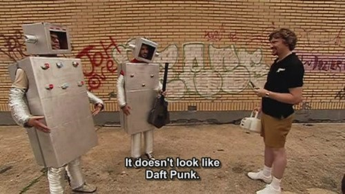 Music,robots,daft punk,funny,flight of the conchords