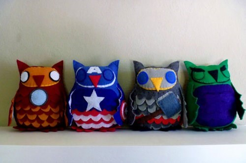 plushies The Avengers cute owls for sale - 7608105472