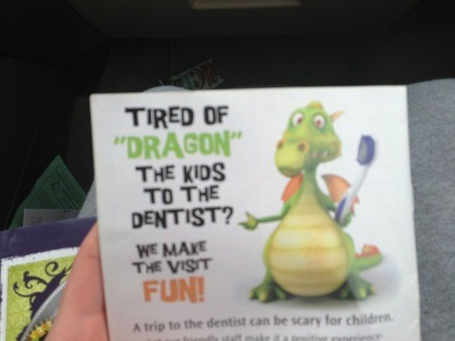 kids dentists puns dragons funny - 7608139008