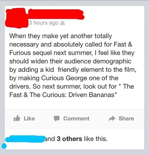 Curious George puns Fast and Furious funny