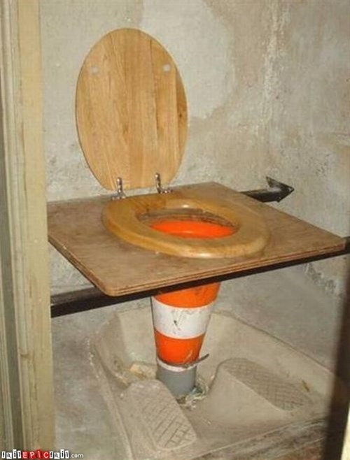 bathroom humor,road cones,funny,toilets