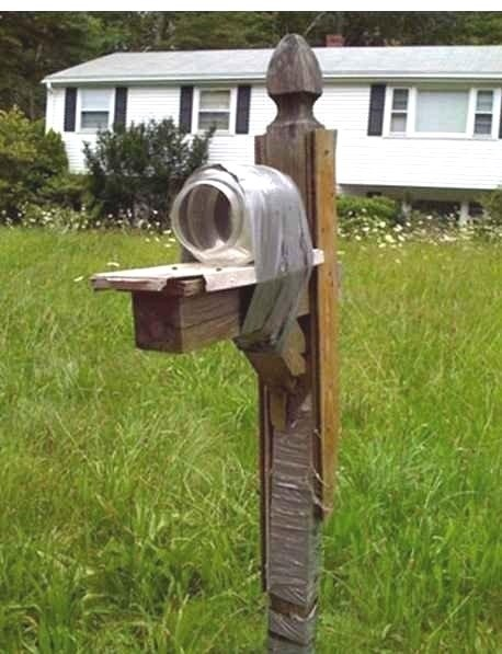 mason jars,duct tape,funny,mailboxes