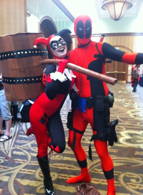 cosplay deadpool superheroes Harley Quinn - 7608318464