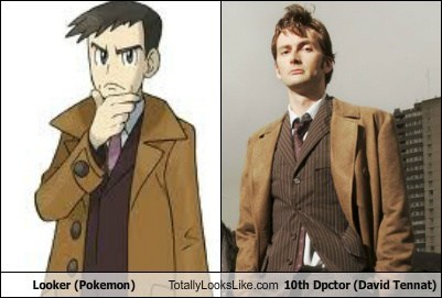 Pokémon,David Tennant,totally looks like,doctor who,looker,funny