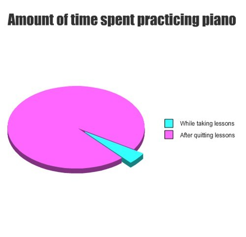 piano lessons pie charts graphs funny - 7609091328