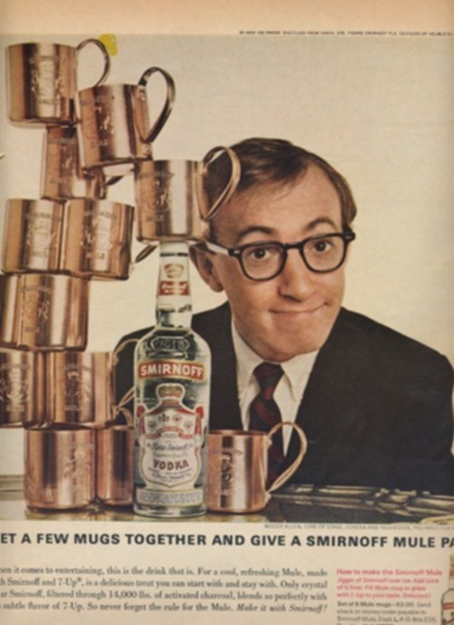 woody allen ads vodka funny