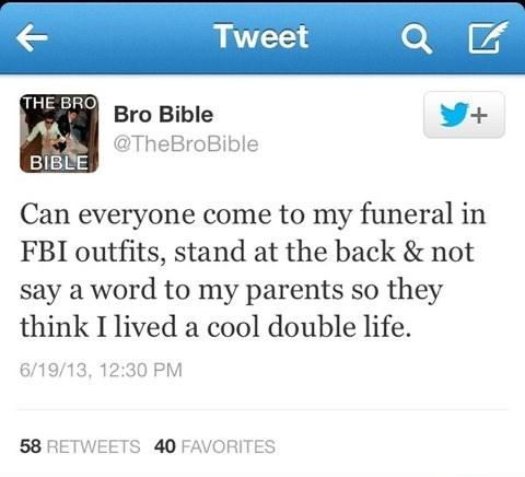 fbi agent james bond 007 funeral bro bible failbook g rated - 7610447616