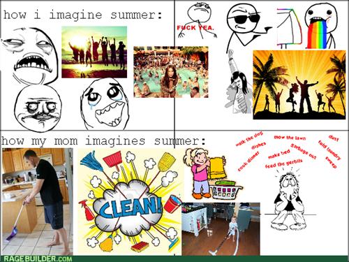 summer parenting chores mom - 7610650880